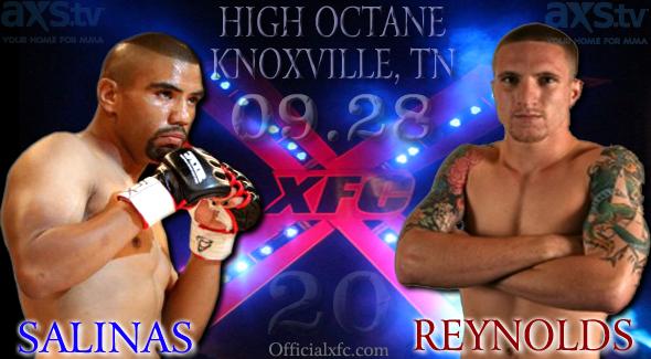 Danny Salinas vs. Eric Reynolds headline 'XFC 20: High Octane' Sept. 28 in Knoxville