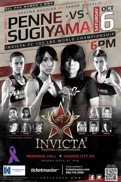 Invicta FC 3: 'Penne vs. Sugiyama' to be streamed for FREE October 6th