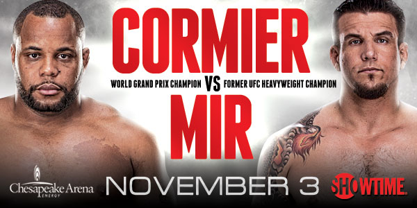 Strikeforce: Frank Mir vs. Daniel Cormier set for November 3rd