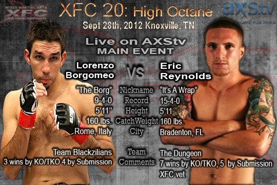 XFC 20 LIVE results and play-by-play