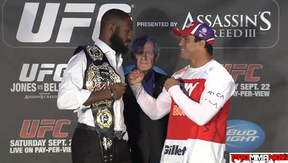 Jones vs. Belfort staredown and other photos from UFC 152 presser