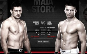 Demian Maia(left) will face Rick Story at UFC 153