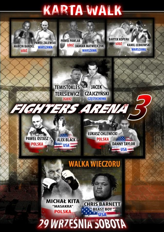 Poland MMA: Fighters Arena 3 fight videos