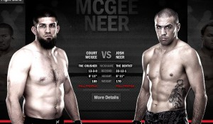 UFC 157, Josh Neer, Court McGee