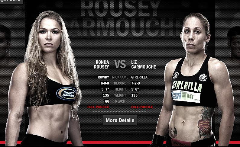 ufc 157 preview ronda rousey set to make history against liz carmouche