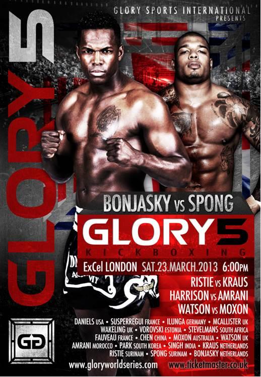Glory 5 London poster