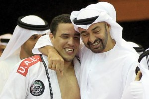 Crown Prince of Abu Dhabi with the most accomplished UAE Jiu-Jitsu Fighter, Faisal Al Ketbi -- Photo courtesy Sport360.com