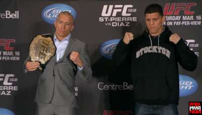 Georges St. Pierre vs. Nick Diaz UFC 158