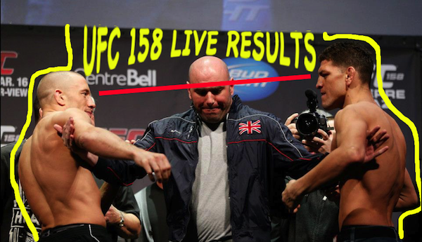 UFC 158 live results