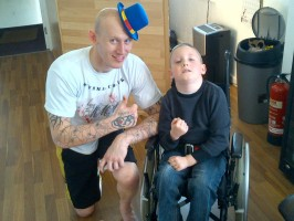 Cain Burns with MMA fighter Colin Fletcher