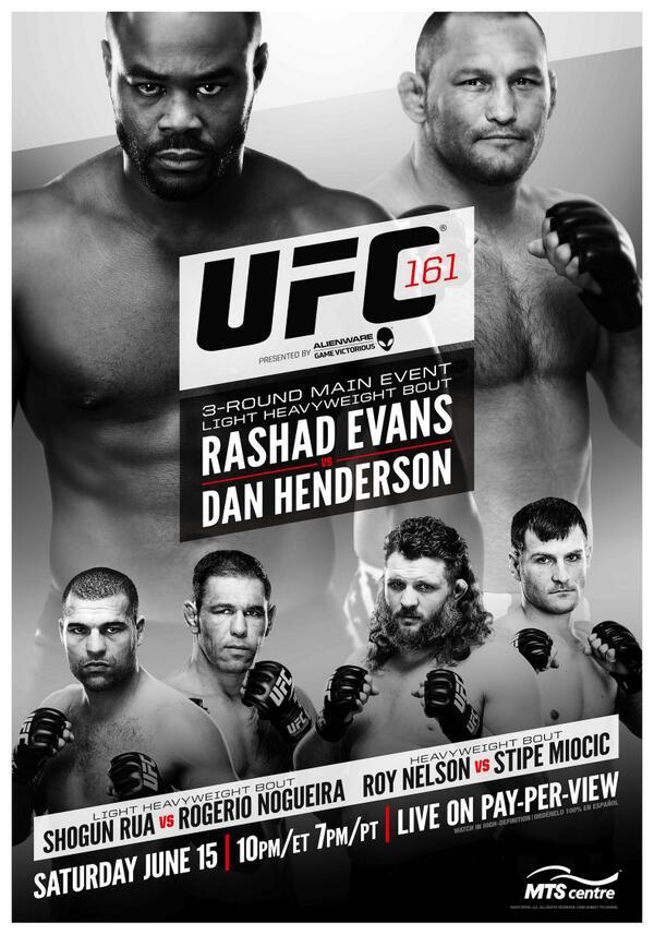 The UFC 161: Evans vs. Henderson full card