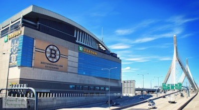 TD Garden, home of the Boston Bruins of the NHL and the Boston Celtics of the NBA, is located along interstate 93 in Boston, Massachusetts.  --  Photo courtesy Shawn Pierce