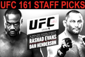 ufc 161 STAFF PICKS