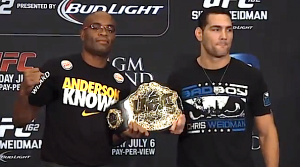 anderson Silva vs chris weidman-hold title