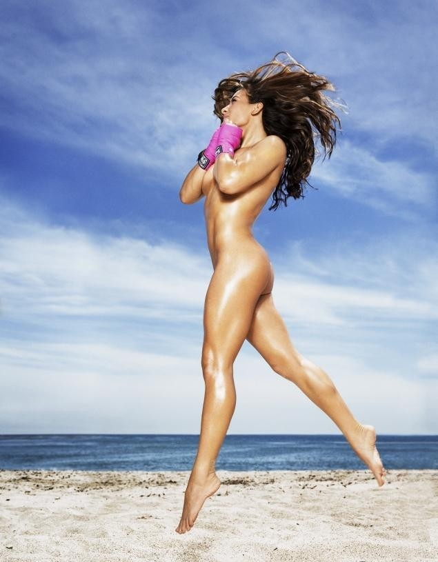 Photo of the Day: Miesha Tate naked in ESPN Body Issue