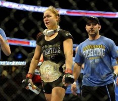 Coach Leo Frincu with one of his star pupils, former UFC women's bantamweight champ Ronda Rousey