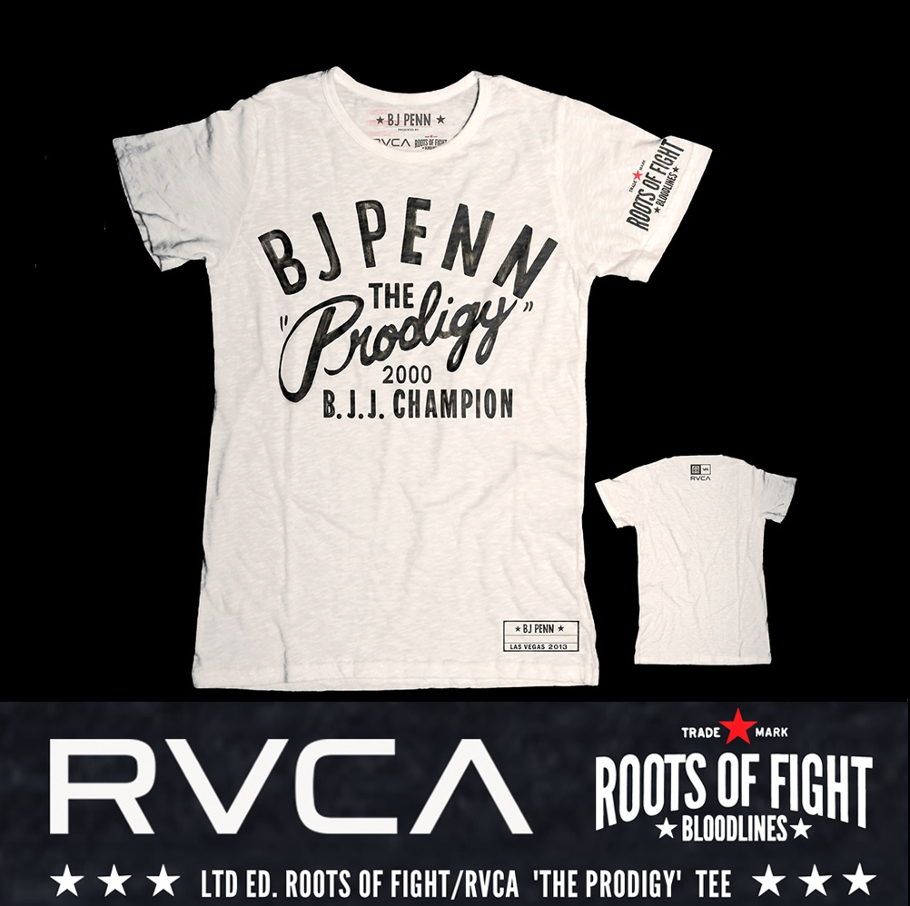 Roots of Fight Partners with RVCA For Exclusive Collaboration Honoring BJ 'The Prodigy' Penn With Short Film and Capsule Collection of Apparel