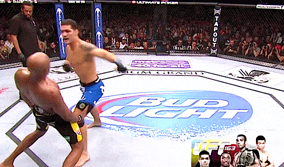Anderson Silva just got humbled by Chris Weidman now watch how it happened with this Hi-Def GIF