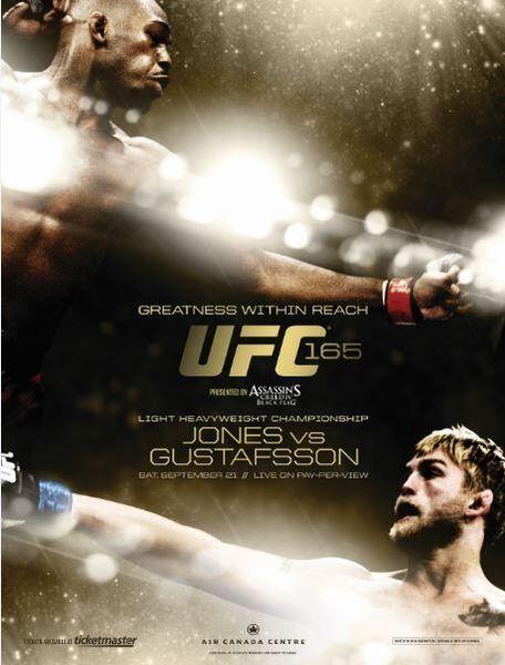 The UFC 165: Jones vs. Gustafsson full card