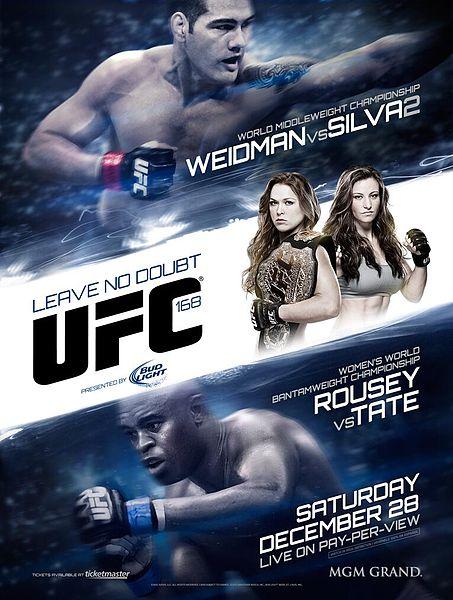 The UFC 168: Weidman vs. Silva II full card