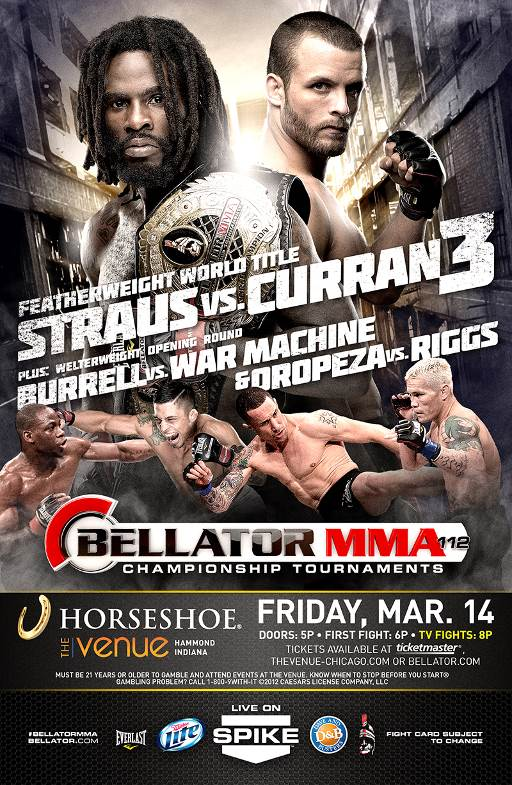 Straus vs. Curran 3 booked for March 14th