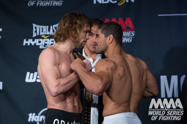 World Series of Fighting 9 weigh-in video highlights