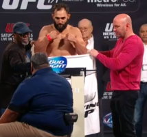 ufc 171-hendricks misses weight
