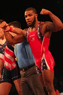 Jordan Burroughs wins again. Photo by Joey Krebs