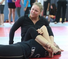 Rousey demonstrating technique