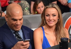 Tito Ortiz sat cageside with his lady after his fight