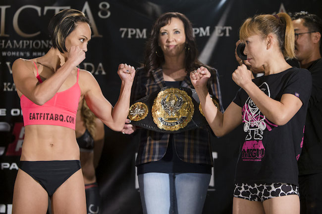 Michelle Waterson vs. Yasuko Tamada --- Photo credit: Esther Lin / Invicta FC