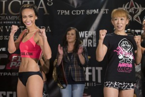 Michelle Waterson vs. Yasuko Tamada -- Photo by Esther Lin for Invicta FC