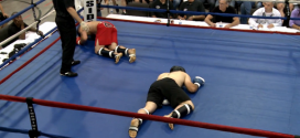 Watch this painfully awesome double groin shot from church kickboxing