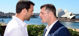 Luke Rockhold and Michael Bisping verbally spar ahead of showdown