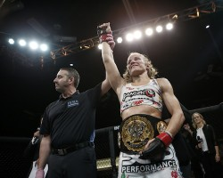 Invicta FC Flyweight Champ Barb Honchak successfully defended her title for a second time at Invicta FC 9. Photo Credit: Scott Hirano/Invicta FC