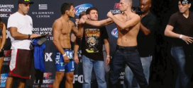 The only thing you need to watch right now is this staredown between Nate Diaz and Rafael dos Anjos