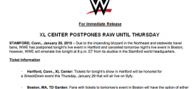 WWE postpones RAW, claims weather, conspiracies say Rumble backlash