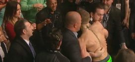 Conor McGregor jumps fence to confront Jose Aldo