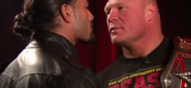 Watch this tense meeting between Brock Lesnar and Roman Reigns following Royal Rumble