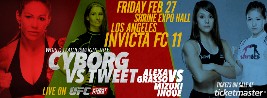 Watch today's Invicta FC 11: Cyborg vs. Tweet prelims (live stream)