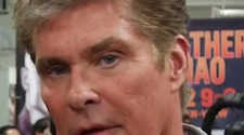 Watch David Hasselhoff almost interview Floyd Mayweather