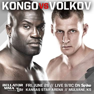 Bellator 139: Kongo vs. Volkov live results and video