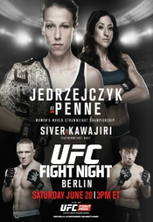 UFC Fight Night 69: Jedrzejczyk vs. Penne full card