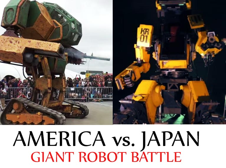 Japan accepts invitation to take on America in real-life giant robot battle