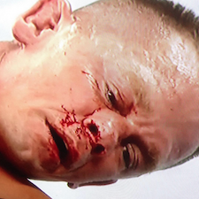 Look how Seth Rollins rearranged John Cena's nose on Raw