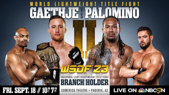 'WSOF 23: Gaethje vs. Palomino II' live results and highlights