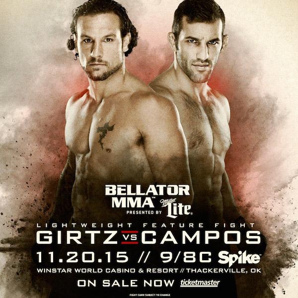 Brandon Girtz vs. Derek Campos added to Bellator 146 main card