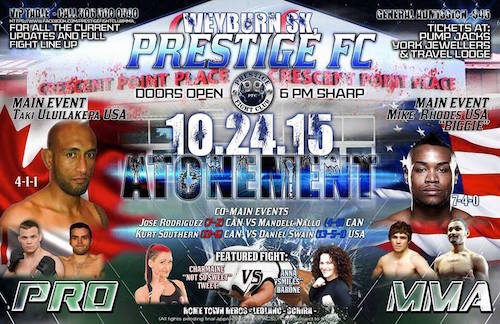 Rhodes, Southern, Tweet pick up wins at Prestige FC 1 in Saskatchewan