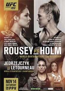 UFC 193: Rousey vs. Holm full card