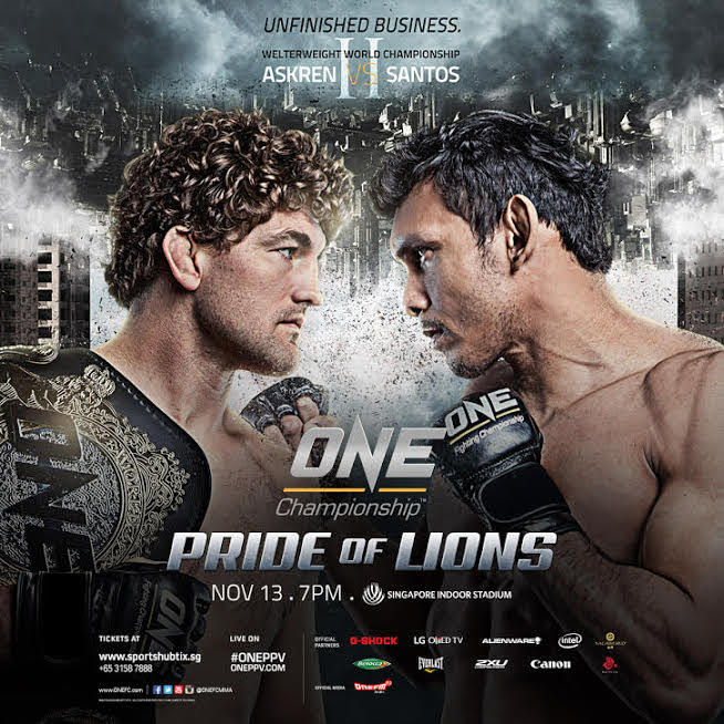 Ben Askren vs. Luis Santos rematch headlines 'ONE: Pride of Lions' in November